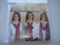 antique collection foulard white scarf shawl new