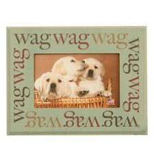 """Dog Speak Pet Lover Picture Frame """"Wag Wag Wag"""" - Made in the USA"""