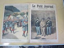 Le petit journal 1894  n° 193 Le roi d'espagne et le bataillon du roi bébé