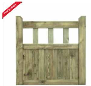 Wooden Garden Gate Top Cottage Style FREE DELIVERY