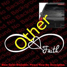 FAMILY LOVE HEART INFINITY FOREVER FAITH VINYL DECAL CAR WINDOW STICKER FM003