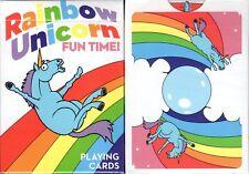 Rainbow Unicorn Fun Time! Playing Cards Poker Size Deck USPCC Custom Limited New