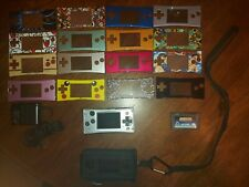 Gameboy Micro with AC Adapter, case, 16 Faceplates & Pac-Man Collection game