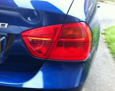 06-08 BMW E90 3 SERIES SEDAN REVERSE SIGNAL TAILLIGHT PRECUT REDOUT TINT OVERLAY