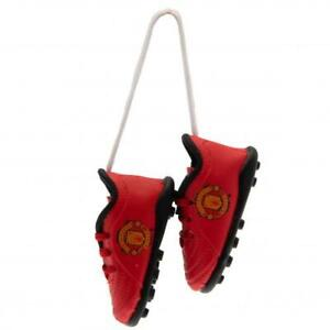MANCHESTER UNITED FC BOOT CAR HANGER WINDOW ACCESSORIES NEW XMAS GIFT