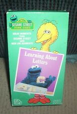 Sesame Street - Learning About Letters (VHS) C is For Cookie Cookie Monster