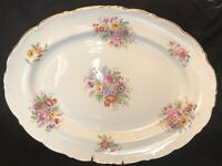 "VINTAGE COALPORT BONE CHINA  ""Fragrance"" SERVING TRAY FLORAL ARTIST SIGNED"