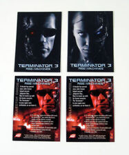 "2003 COMIC IMAGES ""TERMINATOR 3"" 2 x PROMO TRADING CARD SET - V/GOOD CONDITION"
