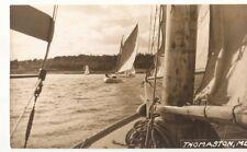 Postcard ME Thomaston RPPC Sailing St. George River Joel Miller Photo ME1