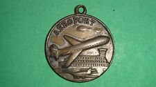 VINTAGE AIRPORT MONTMORENCY AIROPORT FRENCH METAL KEYCHAIN PLACE CARNOT CREIL