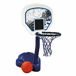 SwimWays Poolside Basketball Hoop Pool Water Game Set with Ball for Ages 6+