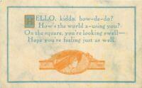 Arts & Crafts Hello Kiddo Motto Saying Lewis Printing C-1910 Postcard 8705