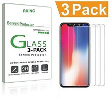 For Apple iPhone X 3 Pack Premium Heavy Duty Tempered Glass Screen Protector