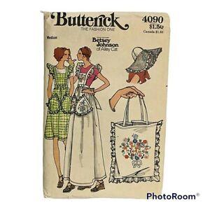 Vintage 1970s Butterick Jumper Hat Bag Betsey Johnson Pattern 4090 Size M FF