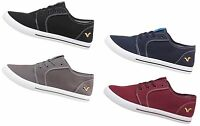 Mens Trainers Voi Jeans Bronson Lace Up Style in Black Grey Navy Burgundy 6-12
