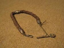 ███►alte Taschenuhrkette aus Haar mit Anhänger - um 1830 (Fach 10)