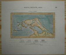 1883 Perron map JAFFNA, SRI LANKA (#132)