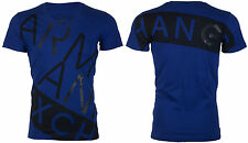 Armani Exchange Mens S/S T-Shirt BIAS Designer ROYAL BLUE Casual S-2XL $45