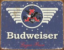 Budweiser 1936 Weathered Retro Tin Sign 13 x 16in