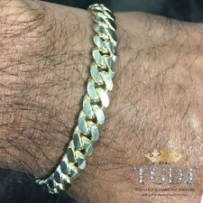 14k Gold Mens Cuban Link Bracelet High Quality