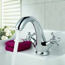 Bath mixer Tap Antique Brass Bathroom vessel sink faucet,Deck Mount Chrome
