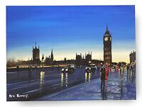 ORIGINAL FINE ART OIL PAINTING BY PETE RUMNEY 'PERFECT LONDON DREAM' BIG BEN