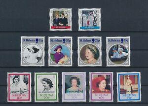 LN74648 St Helena royal family fine lot MNH
