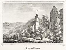 tharandt-bergkirche&RUINAS-kirchen-galerie - Litografía 1837