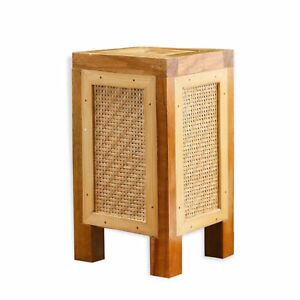Contemporary Bamboo Table Lamp Natural Brown Desk Light