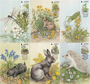 ALDERNEY 5 MAY 1994 WILDLIFE DEFINITIVES ALL 6 PHQ CARDS SHS