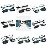 Polarized Magnetic Clip-on Sunglasses + Eyeglass Frames Fishing Glasses Rx