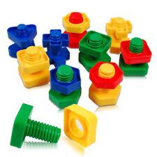 30 pcs Children Screw Building Blocks Insert Blocks Nut Shape Toys For Kids 8C