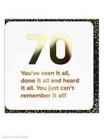 70th Birthday Age Card Funny Comedy Humour Novelty Cheeky Amusing Witty Joke