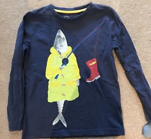 Mini Boden Fish Fisherman Shirt 4/5