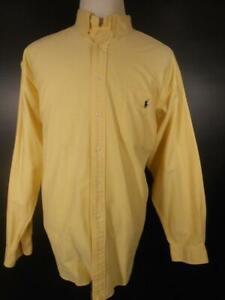 Beautiful Men's XL Ralph Lauren Big Shirt Cotton Yellow LS Button-Down Shirt