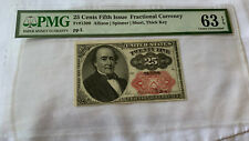 Fr-1309 $0.25 Fifth Issue Fractional Currency - 25 Cents - PMG 63 EPQ!!!!