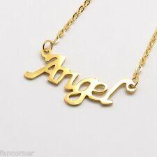 Buffy collier Angel en acier inoxydable doré Angel pendant in stainless steel