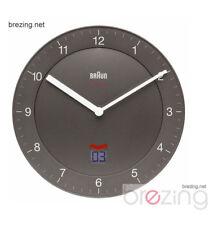 Braun Funkwanduhr BNC006 GYGY DCF grau anthrazit Time Control Wanduhr