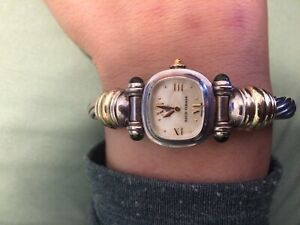 Estate Silver Gold Yurman Ladies Watch