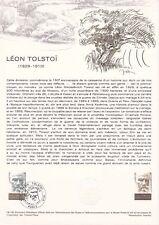 Document philatélique 19-78 1er jour 1978 Léon Tolstoï Ecrivain