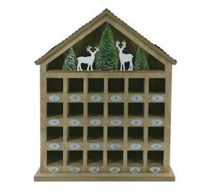 "17"" Winter Woodlands Tabletop Advent Calendar House by Ashland®"