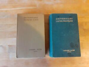 Lot Dictionnaires Français-Latin + Latin-Français - Hatier (1946/47)