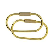 2Pcs Mini Key Chain Carabiner, Screw Lock Keychain Key Rings DIY Accessories