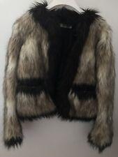 LANVIN H&M Faux Fur Jacket Coat size EU 38 Limited Edition 2010