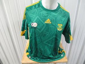 VINTAGE adidas SOUTH AFRICA NATIONAL MEN'S FOOTBALL TEAM LARGE JERSEY 2008 KIT