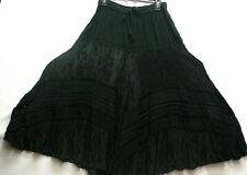Skirt PIrate Boho Renaissance Fair Morman Trek Old West Victorian Pioneer Black