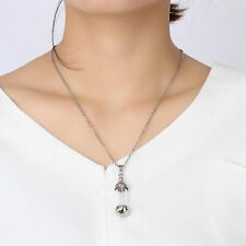 Stainless Steel Screw Cap Tube Glass Bottle Urn Vial Charms Pendant Necklace