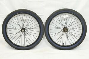 "Shengfu 20"" BMX Bike Wheelset OLW100 25mm 36S SS Single Speed Black USA Charity!"