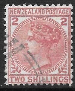 NEW ZEALAND 1878 2s deep rose, VFU. SG 185. Cat.£300.