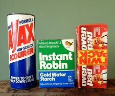 More details for lot of vintage retro packaging advertising ajax robin starch cleaning pads